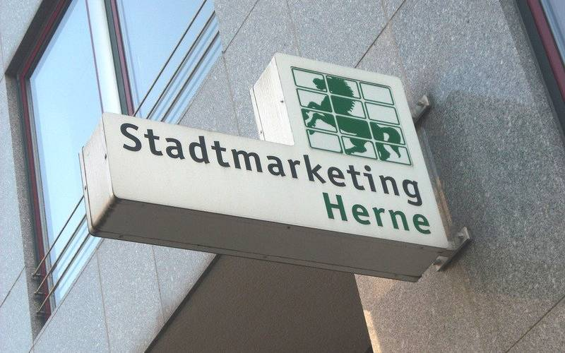Schild Stadtmarketing Herne